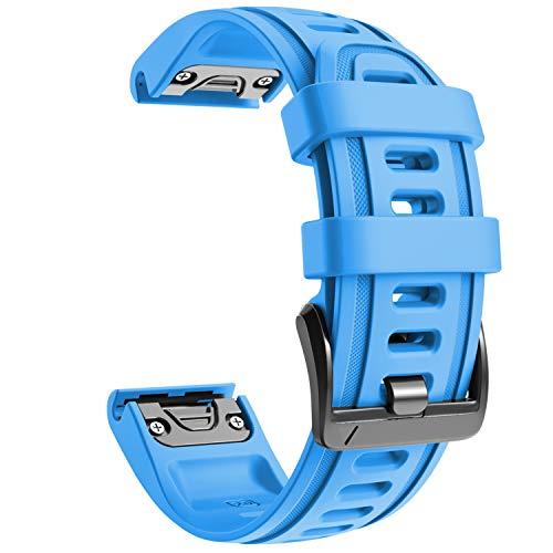 NotoCity Armband für Garmin Fenix 6s/Fenix 6s Pro/Fenix 5s, 20mm Breite Silikon Estrazarmband Quick-Fit Uhrenarmband für Garmin, Mehrfache Farben