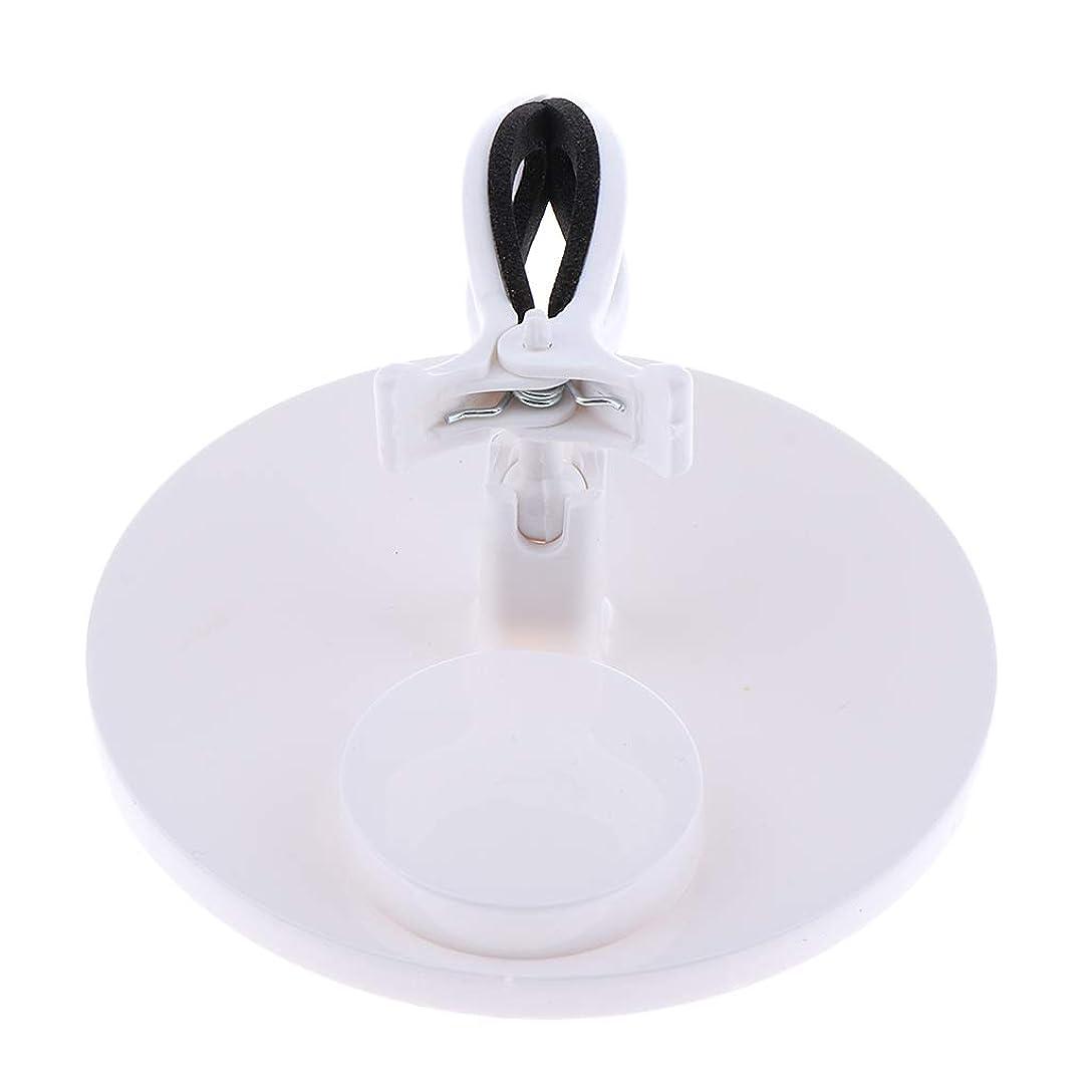 裸デザイナー指定するB Baosity マニキュアボトルホルダー グリップ 調整可能 ネイルアート 5色選べ - 白