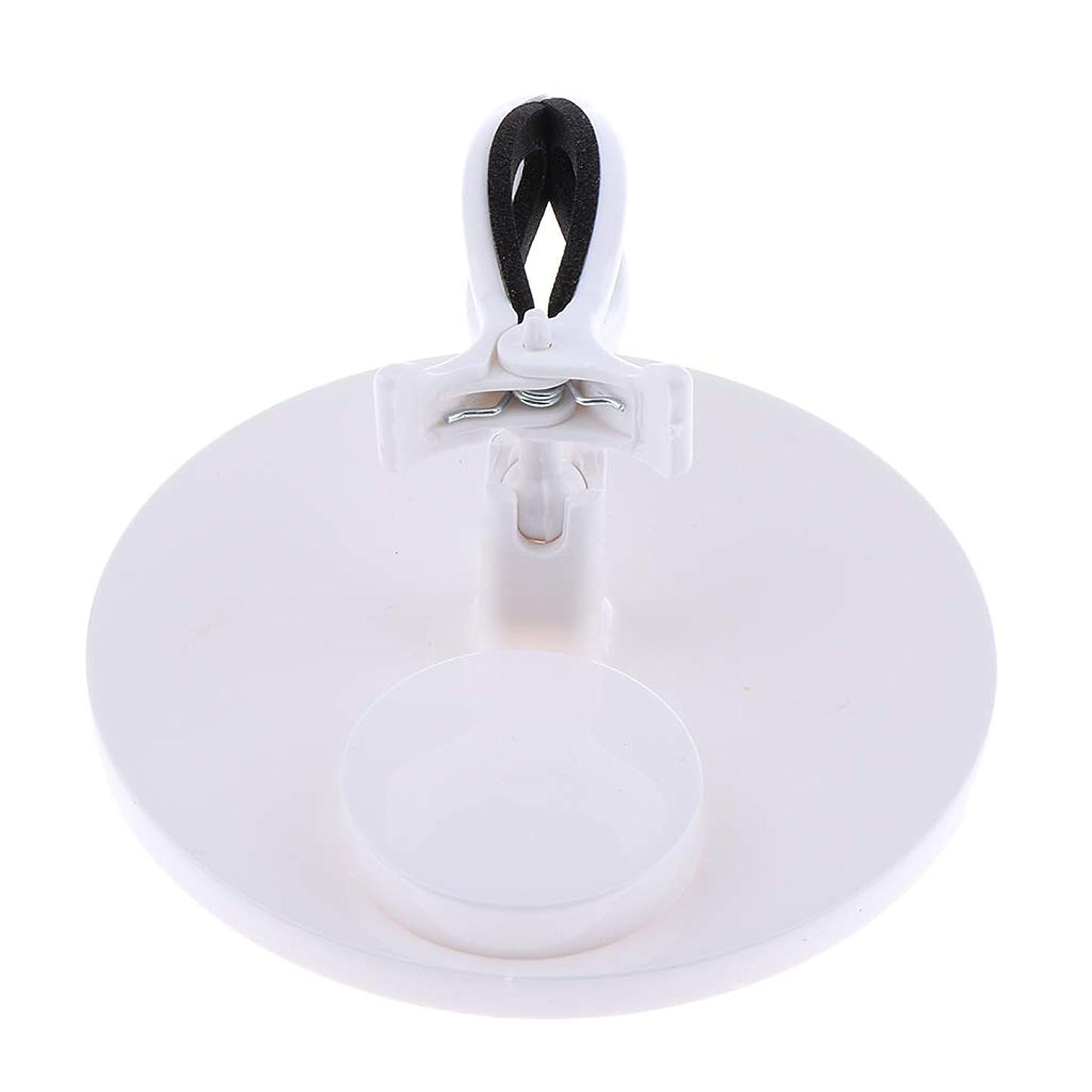 百年寛大さ素人B Baosity マニキュアボトルホルダー グリップ 調整可能 ネイルアート 5色選べ - 白