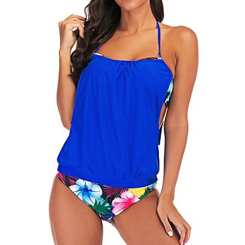Darringls Costumi da Bagno, Bikini Costume Intero Donna Push Up Coordinati Bikini da Bagno Intero Bikini Donna Mare Brasiliano Set da Tankini