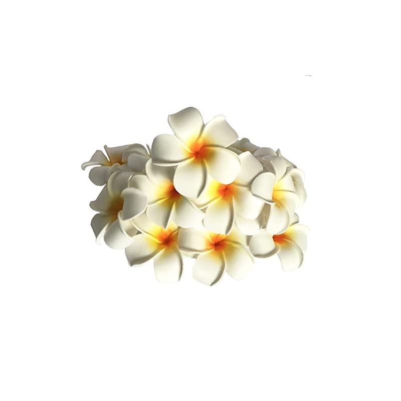 silk flower arrangements josairy water floating plumeria artificial flower frangipani for pool decoration and bathtub 20 pieces (white)