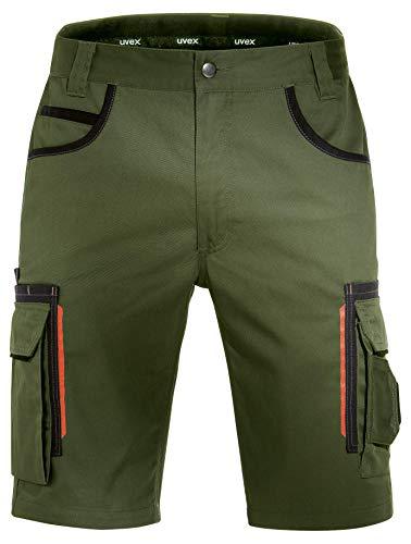 Uvex Tune-Up Arbeitshosen Männer Kurz - Shorts für die Arbeit - Grün - Gr 34W/Etikettengröße- 52