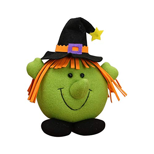Demarkt–Halloween Bruja muñecas Halloween decoración Figuras Peluche Juguete Halloween Creativo Regalo