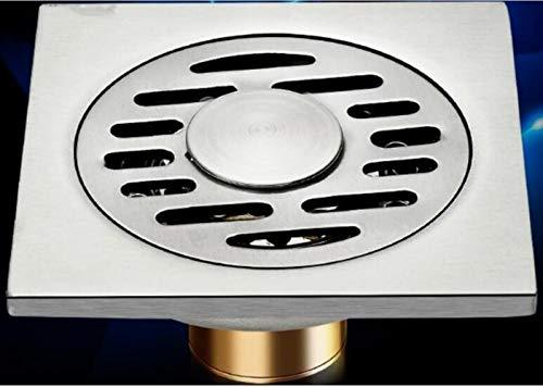 XINGSHANG Duschablauf Duschrinne 10X10Cm Quadratischer Edelstahl-Bodenablauf Lineare Duschabflussabdeckungen Waschmaschine Verwenden Sie Badezimmerbalkon-Abfallrost, 602