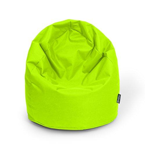 Puff de pera exterior Beanbag Indoor Sitzsäcke 3 tamaños & 32 colores Bodenkissen Riesensitzsack adultos Bean Bags Niños Salón, verde kiwi, XL ca. H : 105cm - Dm: 65cm ca. 320 Liter