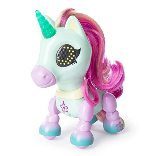 Zoomer - Zupps Tiny Unicorns, Breeze, Interactive Unicorn with Light-up Horn, for Ages 4 and Up