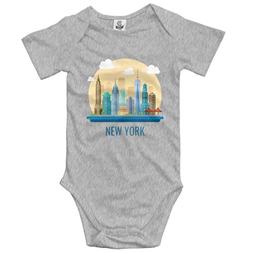 Klotr Ropa para Bebé Niñas Niños New York City Newborn Bodysuits Short Sleeved Romper Jumpsuit Outfit Set