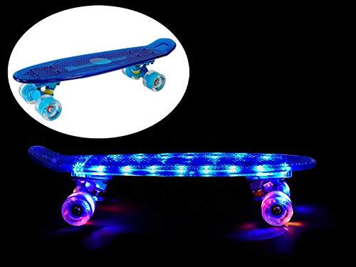MAXOfit® Mini Cruiser Retro Skateboard Komplettboard American Style 55cm 22