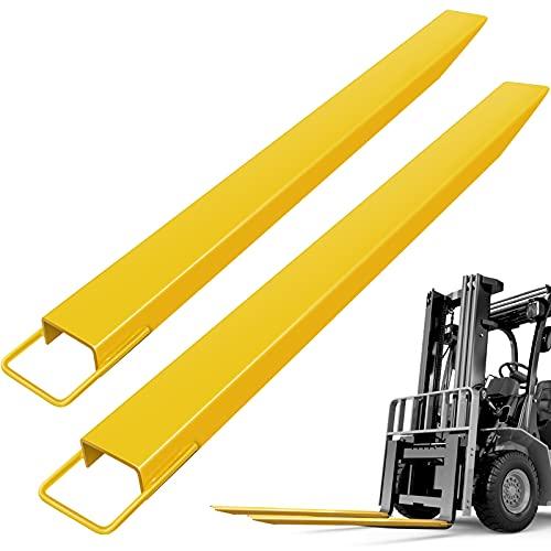 """Mophorn Palettengabeln Erweiterungen Stahlpalettengabeln 5"""" x 1.6"""" x 96"""" Gabeln Erweiterungen für Gabelstapler 2,4m (96"""" 2,4m)"""