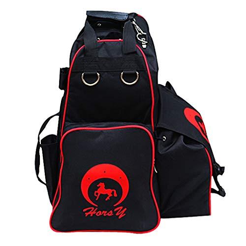 LEIPUPA Waterproof Equestrian Backpack, Horse Riding Boot Bag, Horse Riding Boots Carry Bag, Equestrian Bag for Boots and Helmet, Equestrian Bag for Horse Gear