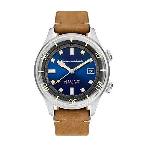 SPINNAKER Bradner Herren-Armbanduhr 42mm Armband Leder Automatik SP-5062-05