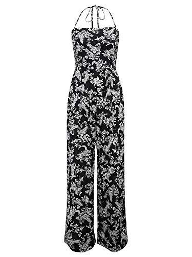 Mavi Damen Overall Regular Fit Printed Jumpsuit Black Stroke Antique White flo XL