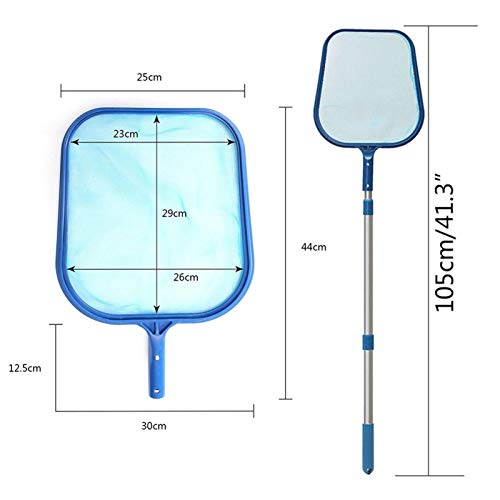 Leaf Skimmer Heavy Duty Pool Leaf Skimmer Net with Adjustable Aluminum Telescopic Pole for Pools and Spas Professional Swimming Pool Leaf Skimmer Net