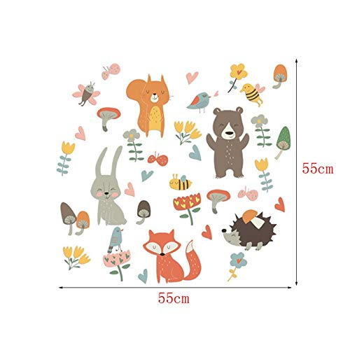 Kinderen Stickers Geschenken Personality Creative Muur Sticker For Kinderkamer Forest Animal Party Children's Zaal Speel Home Decoration Stickers