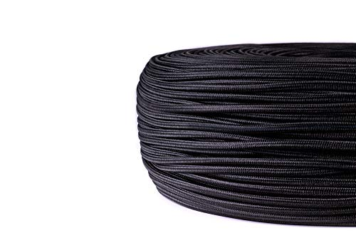 edi-tronic Stoffkabel Kupfer Textilkabel Lampenkabel Stromkabel H03VV-F 2x0,75 mm² schwarz
