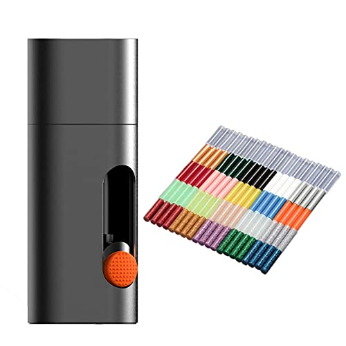 Pistola de Pegamento Lápiz De Pegamento De Pegamento De Fusión Eléctrica Inalámbrico Glue Tipo-C Recargable DIY Herramienta De Utilidad para Proyectos Escolares de Bricolaje