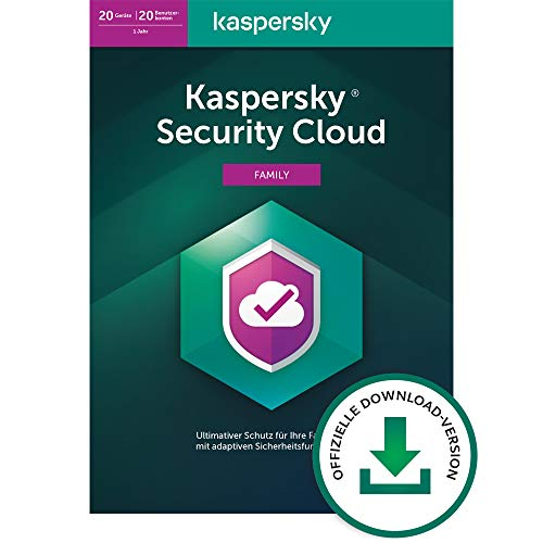 Kaspersky Security Cloud – Family Edition   20 Geräte   1 Jahr   Windows/Mac/Android/iOS   Aktivierungscode per Email