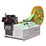 Webbing Cutting Machine, Automatic Hot and Cold Tape Cutter for Elastic Band Self Adhesive Tape Ribbon Zipper