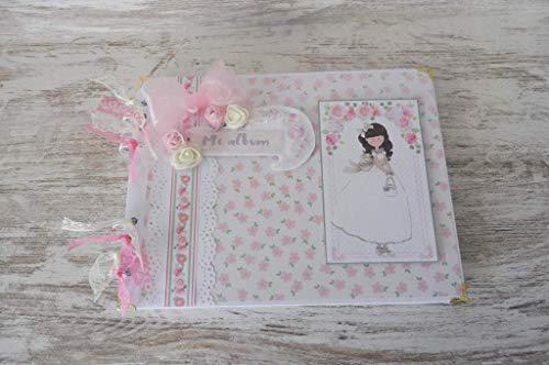 Libro de firmas primera comunion niña, recuerdos, fotos. Scrapbooking