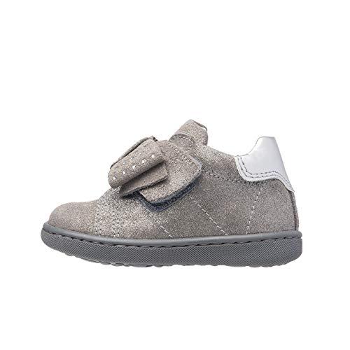 Nero Giardini A918000F Sneakers Baby da Bambina in Camoscio - Grey 18 EU