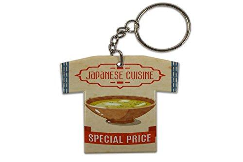 LEotiE SINCE 2004 Schlüsselanhänger Asia Style gebratener Reis Trikot bedruckt