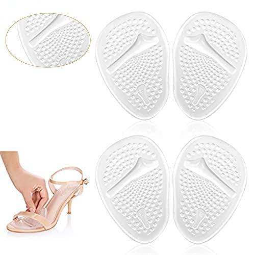 Doact Ballenpolster, Silikon-Einlegesohlen für High Heels (4 Stück) - Soforthilfe bei Vorfuß für die Frauen, Selbstklebende Innensohle Vorfuß zur Schmerzlinderung