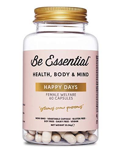 Be Essential - Happy days combate el dolor durante el ciclo menstrual. 60 cápsulas