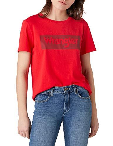 Wrangler Logo tee Camiseta, Lollipop Red, XXL para Mujer