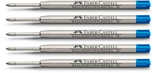 Faber-Castell 148741 - Kugelschreibermine M, blau | 5er Packung