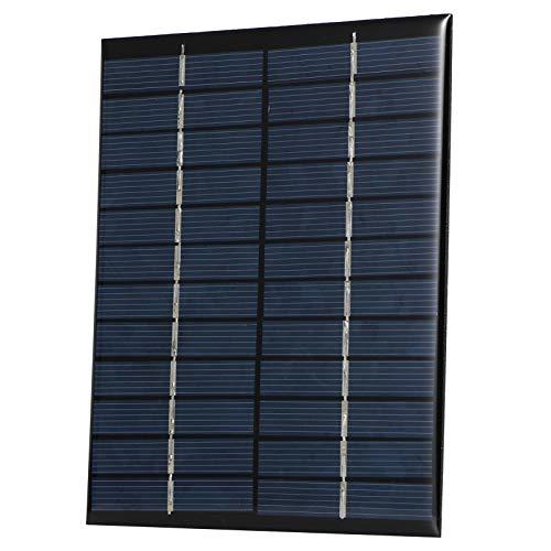 01 Carga de Panel Solar Resistente a la Nieve, Mini Panel Solar de silicio policristalino, 12V para Luces de césped Juguetes solares