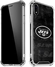 Skinit Clear Phone Case for iPhone XR - Officially Licensed NFL New York Jets Black & White Design