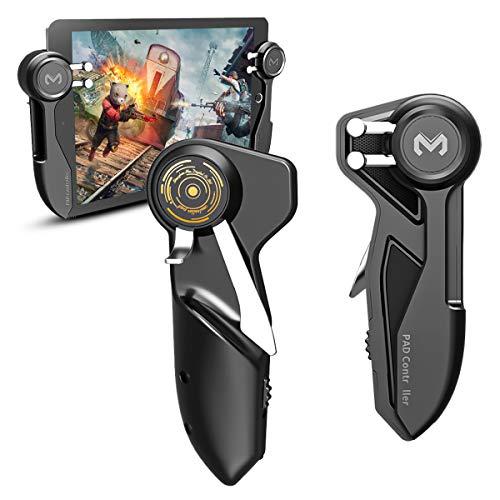 DLseego PUBG iPad Game Trigger,Mobile Game Controller Trigger für iPad,6 Finger Game Controller Gamepad mit L1R1 L2R2 Aim & Fire Shooter für Knives Out/Überlebensregeln für alle Tablet & Ipad-Black