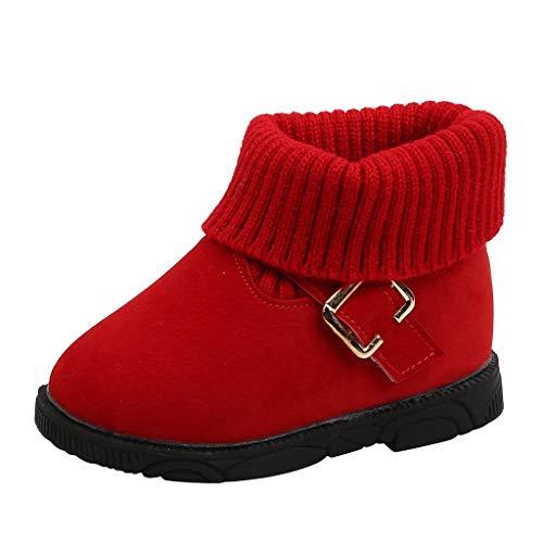 WEXCV Unisex Baby Schuhe Jungen Mädchen Strickschuhe Herbst Winter Verdicken Warme Kleinkindschuhe Booties Schneeschuhe Anti-Rutsch Freizeitschuhe Outdoor Lauflernschuhe Niedlich Stiefel
