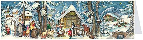 """Postcard Advent Calendar Card """"Christmas with the Animals"""""""