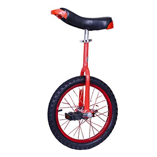 YYLL Monociclo con parcheggio Telaio Adulti Professionale acrobatico Veicolo Monociclo for Outdoor Sport Fitness (Color : Red, Size : 18inch)