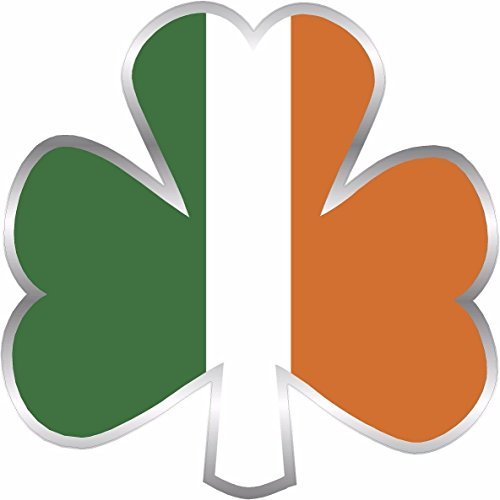 Ireland Shamrock Decal 3' Flag Lucky Irish USA Clover Vinyl Sticker Car Bumper Window Celtic Flag