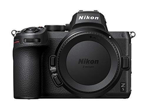 Nikon Z 5 Spiegellose Vollformat-Kamera (24,3 MP, Hybrid-AF mit 273 Messfeldern & Fokus-Assistent, eingebauter 5-Achsen-Bildstabilisator, 4K UHD Video, doppeltes Speicherkartenfach)