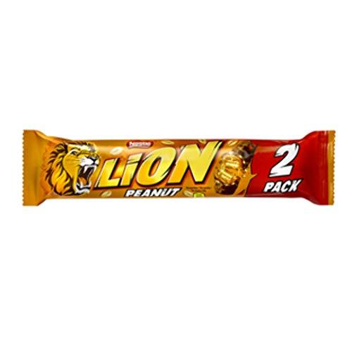 28 x Chocolade Reep Lion Peanut 2-Pack 62 gram