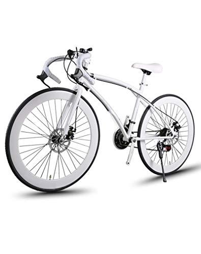 yfkjh VéLo De Mouche Morte à Vitesse Variable, Bicyclette De Course sur Route Virage De Mouche en Direct Pneu Solide Gonflable 26 Pouces