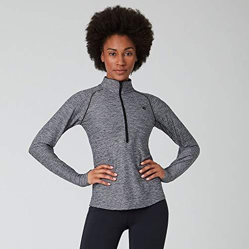 New Balance Womens Transform Half Zip Black Heather L