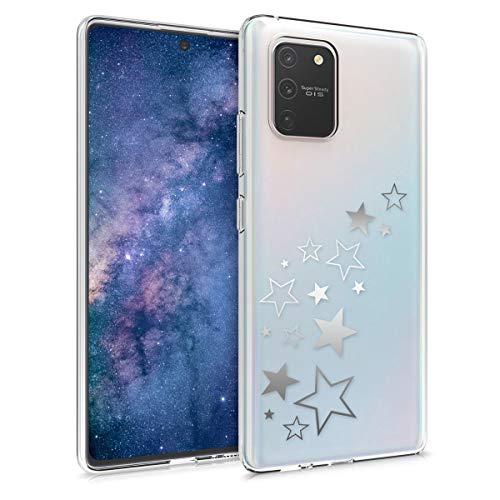 kwmobile Hülle kompatibel mit Samsung Galaxy S10 Lite - Handyhülle - Handy Case Sternenmix Silber Silber Transparent