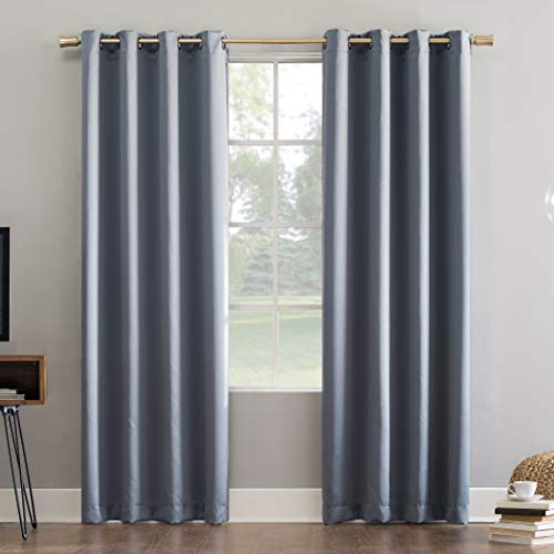 "108""x52"" Oslo Theater Grade Extreme Blackout Grommet Top Curtain Panel Blue - Sun Zero"