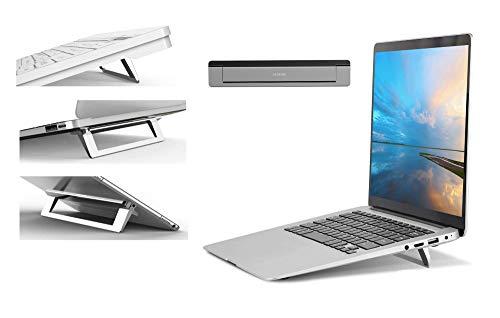 Mywillon Soporte para Ordenador portátil Plegable – Soporte PC ergonómico Laptop Stand Antideslizante Invisible para Ordenador Tableta Teclado Accesorio para Juegos Macbook Pro Apple y ASUS (Silver)