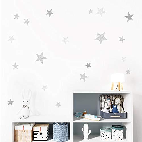 Estrellas combinación gris - Vinilos bebé