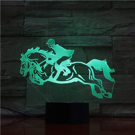 11.11 Promotion 3D Lamp Horse Racing Horseback Riding Best Present for Family Touch Sensor Led Night light lamp Festival Gift