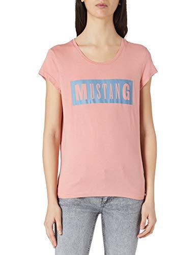 MUSTANG Damen Alina C Logo Tee T-Shirt, Hellrosa, XL