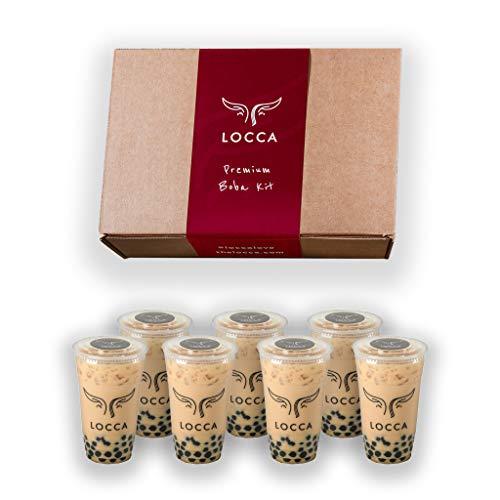 Locca Boba Tea Kit - Red Edition 24+ Bubble Tea Drinks | Organic White Tea with Rose Pedals, Jasmine Tea, Black Tea | Premium Tapioca Pearls | Boba Straws | Locca Boba Tea Recipes