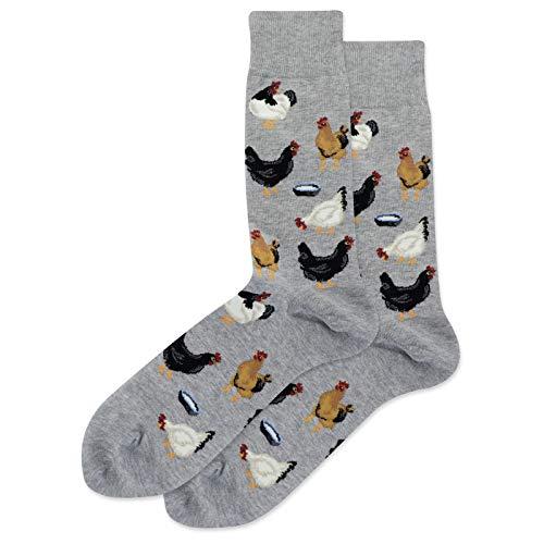 Hot Sox Herren-Socken mit Hühnermotiv - Grau - Einheitsgröße