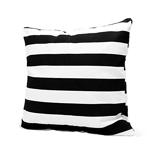 BOVER BEAUTY Las Almohadas Cojines del sofá de la Cubierta Negro Rayas Blancas Almohada Moderna de Lino Cojín Almohada del sofá de la decoración del Dormitorio de Coches (45 * 45cm)
