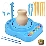 WOWOSS Clay Pottery Wheel Craft Kit, Pottery Studio, Ceramic Machine Without Clay, Artist Studio, Educational Toy for Kids and Beginners